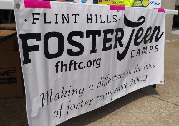 Flint Hills Foster Teen Camps Charity Softball Tournament Sign
